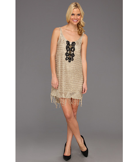 Rochii Free People - Golden Sands Dress - Gold Combo
