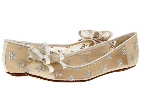 Balerini Kate Spade New York - Bernice - Silver Bow Mesh/Ivory Satin