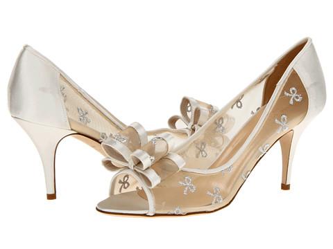 Pantofi Kate Spade New York - Salina - Silver Bow Mesh/Ivory Satin