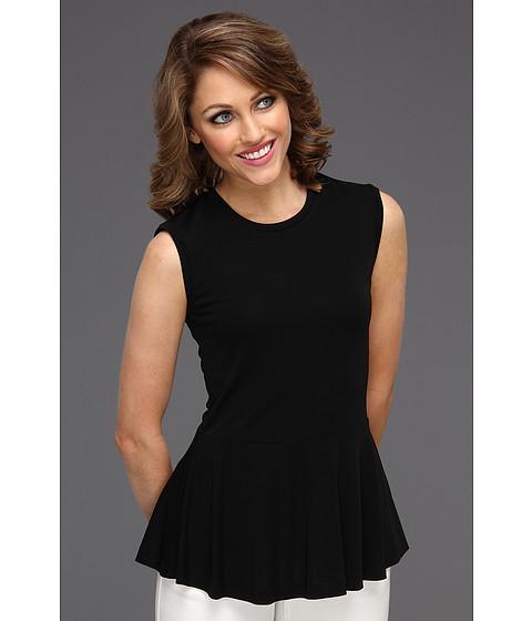 Bluze Nicole Miller - Stretchy Matte Jersey Top - Black