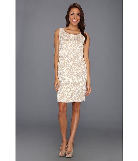 Rochii Anne Klein New York - Leopard Jacquard Dress - Oak/Camellia Multi
