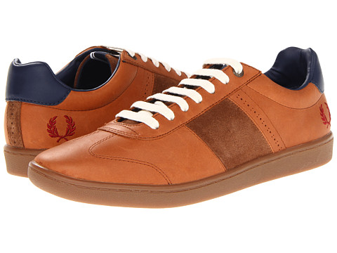 Adidasi Fred Perry - Sebright Leather/Suede - Tan/Rosso