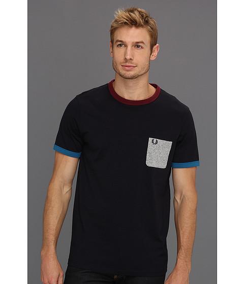 Tricouri Fred Perry - Jersey Pop Pocket T-Shirt - Navy/Vintage Steel Marl/Port/Enamel Blue
