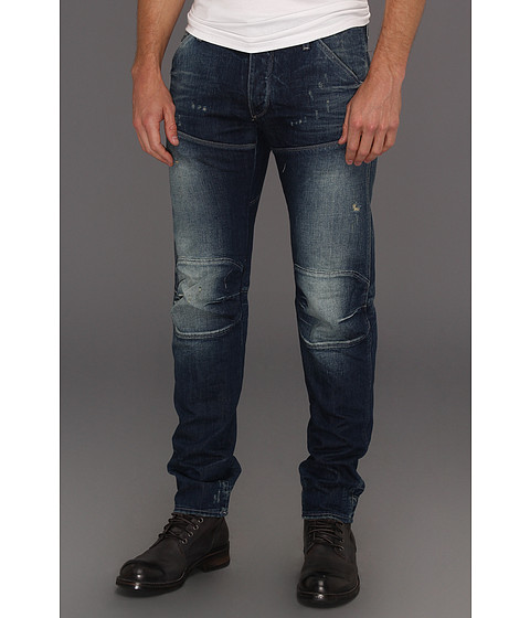Pantaloni G-Star - 5620 3D Low Tapered in Bray Medium Age Destroy - Bray Denim Medium Age Destroy