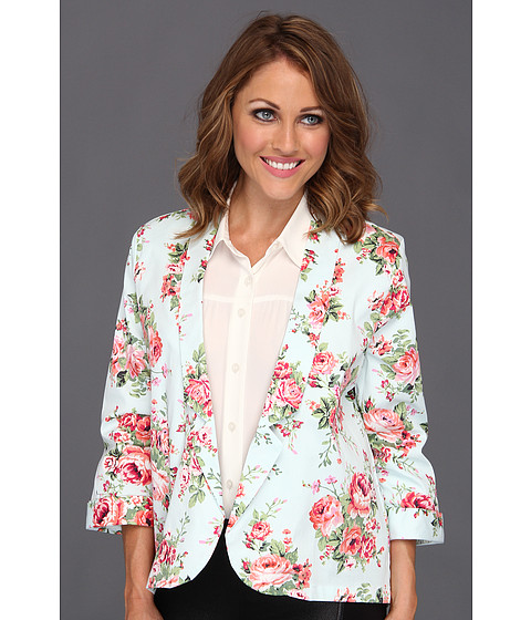 Jachete Brigitte Bailey - Laylah Summer Flower Blazer - Light Blue/Coral
