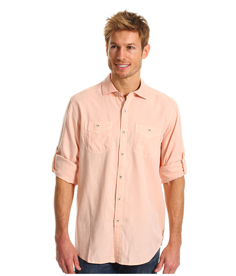 Camasi Tommy Bahama - Island Modern Fit Sand City Oxford L/S Shirt - Morning Bliss