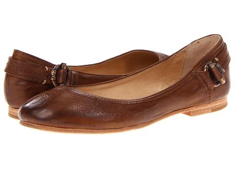 Balerini Frye - Carson Toggle Ballet - Cognac Soft Vintage Leather