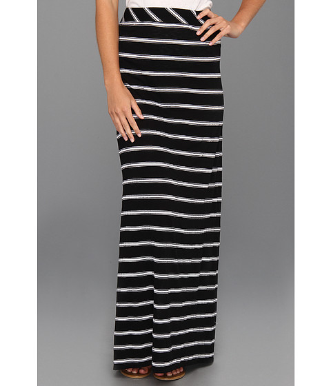 Fuste Michael Stars - Hampton Stripe Maxi Skirt - Black