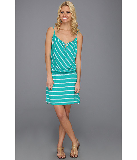 Rochii Michael Stars - Hampton Stripe Smocked Waist Cami Dress - Beetle