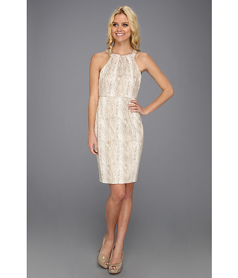 Rochii Calvin Klein - Halter Dress - Latte/Soft White