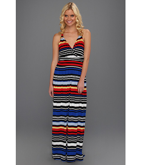 Rochii Vince Camuto - Bright Stripe Wrap Maxi Dress - China Blue