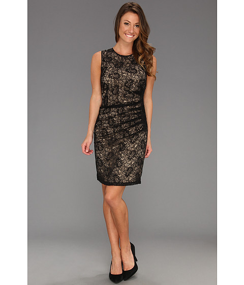 Rochii Vince Camuto - Side Draped Lace Dress - Black
