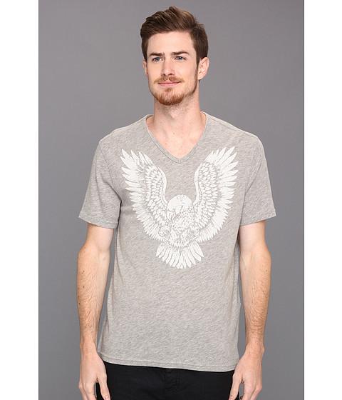 Tricouri John Varvatos - Eagle Graphic V-Neck Tee - Grey Heather