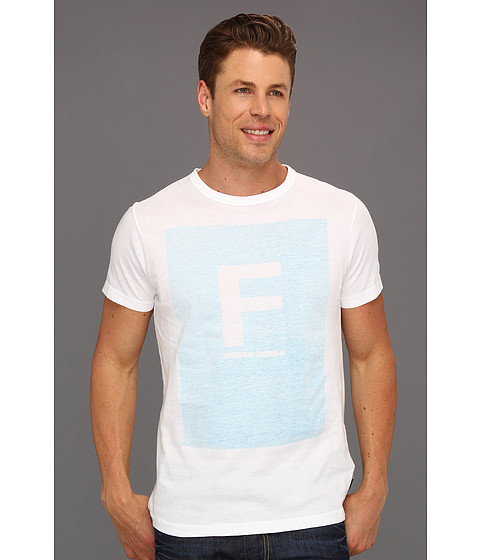 Tricouri French Connection - Morse Tee - Blue Atoll