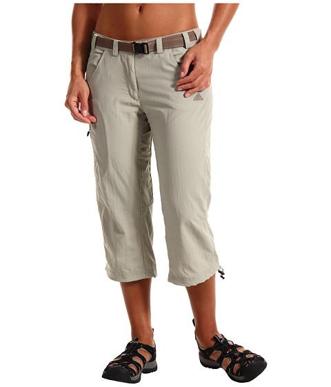 Pantaloni adidas - W Hiking/Trekking Hike Capri - Sesame/Titan Grey