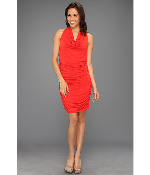 Rochii Michael Kors - Matte Jersey Shirred Halter Dress - Cherry