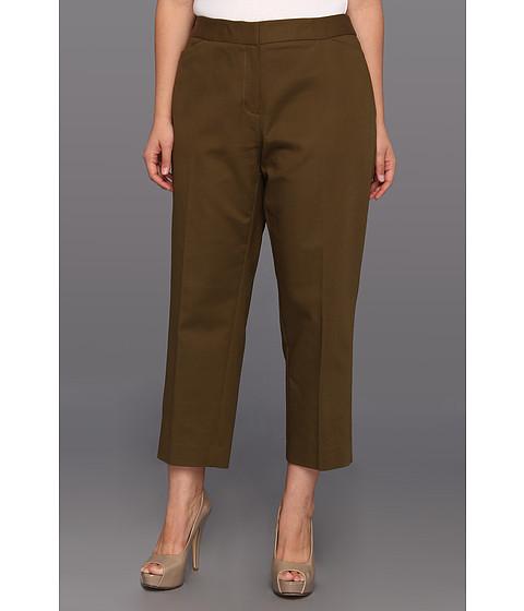 Pantaloni Anne Klein New York - Plus Size Slim Crop Pant - Dark Olive