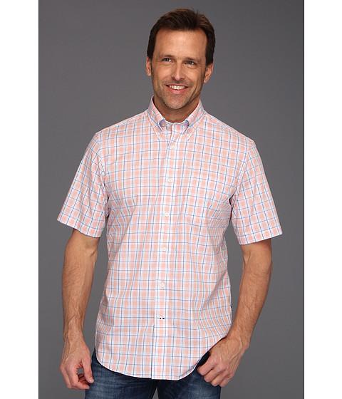 Tricouri Nautica - Wrinkle Resistant Poplin Glen Plaid S/S Shirt - Noon Blue