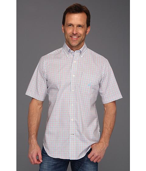 Tricouri Nautica - Wrinkle Resistant Poplin Plaid S/S Shirt - Crown Blue