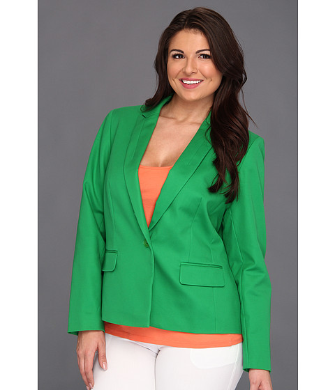Jachete Anne Klein New York - Plus Size One Button Blazer - Lawn