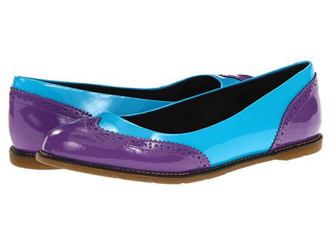 Balerini Dr. Martens - Ceri Brogue Pump - Bright Purple/Sunny Blue
