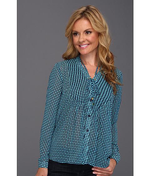 Bluze Michael Kors - Petite Abstract Pintuck Shirt - Turquoise