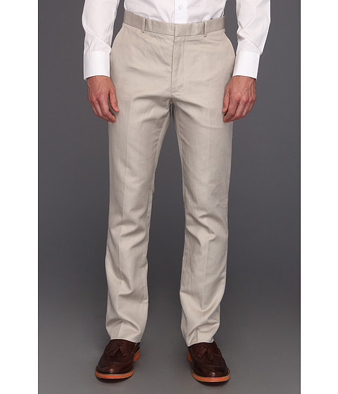 Pantaloni Perry Ellis - Slim Fit Cotton Linen Twill Pant - Stone