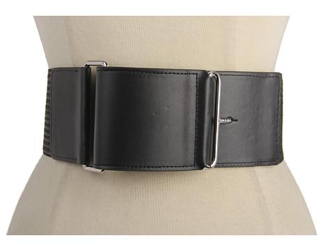 Curele LAUREN Ralph Lauren - Chevron Woven Pullback Belt - Black/Black