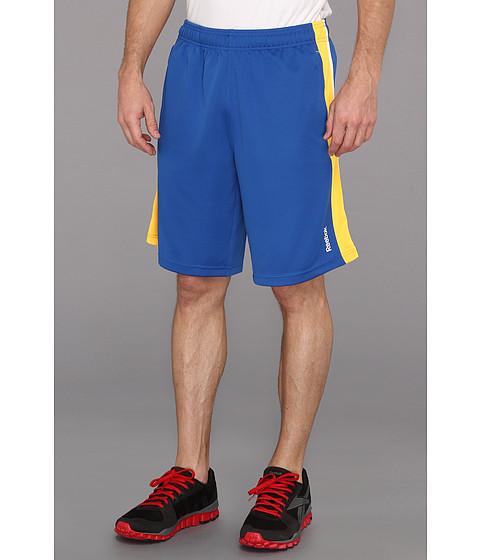 "Pantaloni Reebok - Workout Ready 10\"" Pique Short - Trust Blue/Neon Orange"