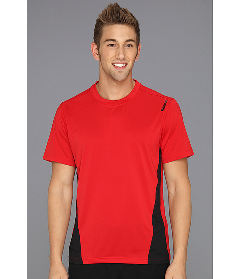 Tricouri Reebok - Workout Ready Colorblock Tech Tee - Excellent Red