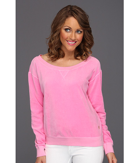Bluze Juicy Couture - Off Shoulder Crew - Synthetic Pink