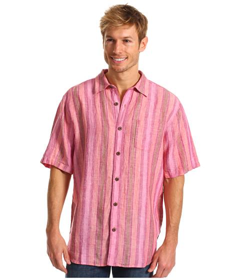 Camasi Tommy Bahama - Aquarina Stripe S/S Woven - Marionberry