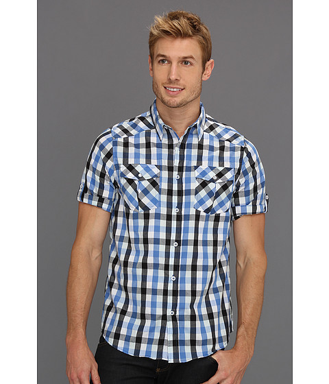 Tricouri Type Z - Wyatt Button-Up Shirt - Blue