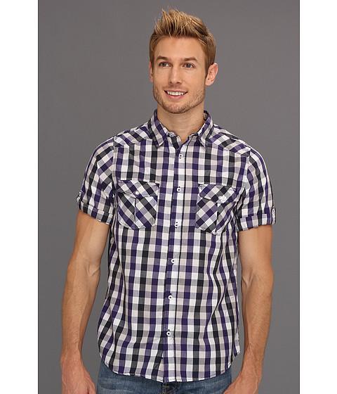 Tricouri Type Z - Wyatt Button-Up Shirt - Purple