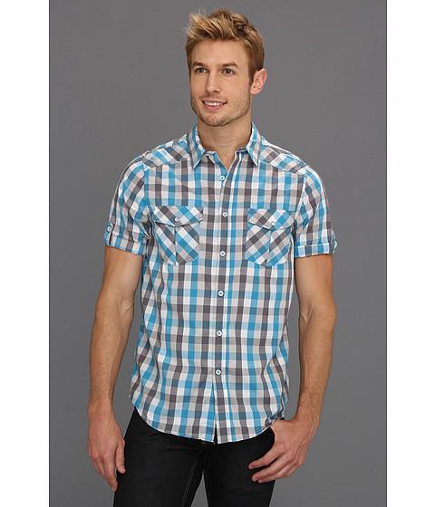 Tricouri Type Z - Wyatt Button-Up Shirt - Turquoise