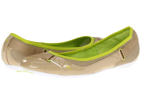 Balerini PUMA - Bixley Patent Mesh Wn\s - Pale Khaki/Lime Punch/Sharp Green