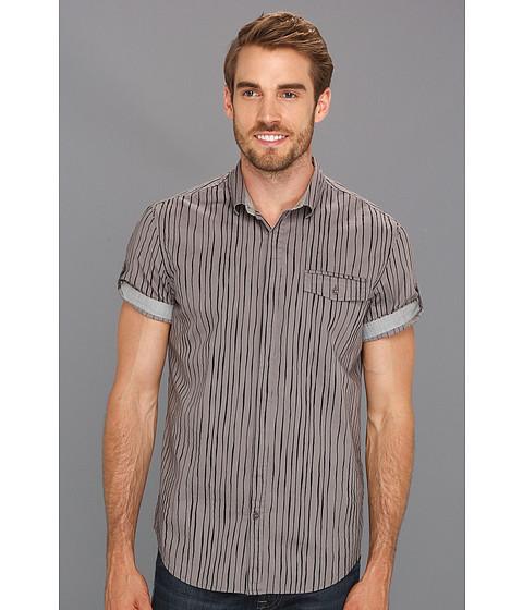 Tricouri Calvin Klein - Era Stripe S/S Woven - Platinum