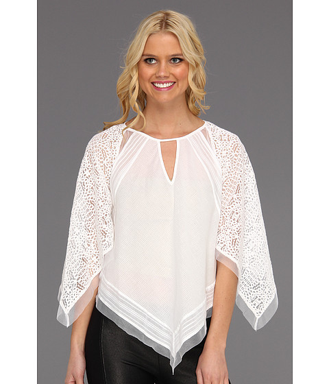 Bluze BCBGMAXAZRIA - Elyza Lace-Blocked Top - White