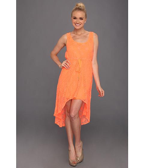 Rochii Gabriella Rocha - Tyrin Lace High-Low Dress - Neon Orange