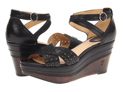 Sandale Frye - Carlie Perf - Black Vintage Veg Tan
