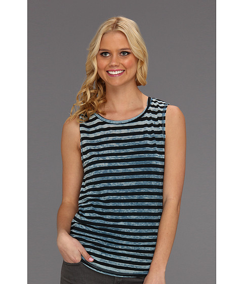 Tricouri Free People - All About Stripes Muscle Tee - Blue Combo