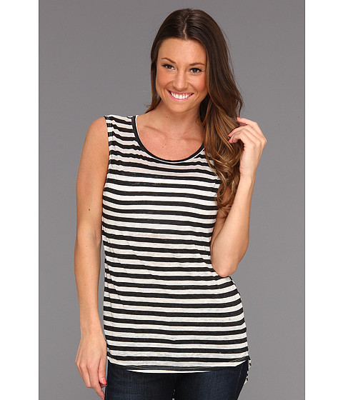Tricouri Free People - All About Stripes Muscle Tee - Ivory Combo