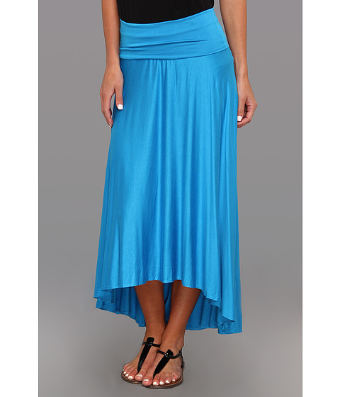 Fuste Culture Phit - Gemmah High-Low Flowy Skirt - Turquoise