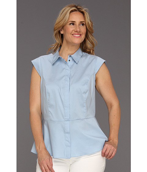 Bluze Vince Camuto - Plus Size Cap Sleeve Peplum Blouse - Powder Blue