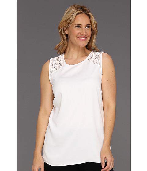 Tricouri Calvin Klein - Plus Size Sequin Shoulder Tank - Soft White