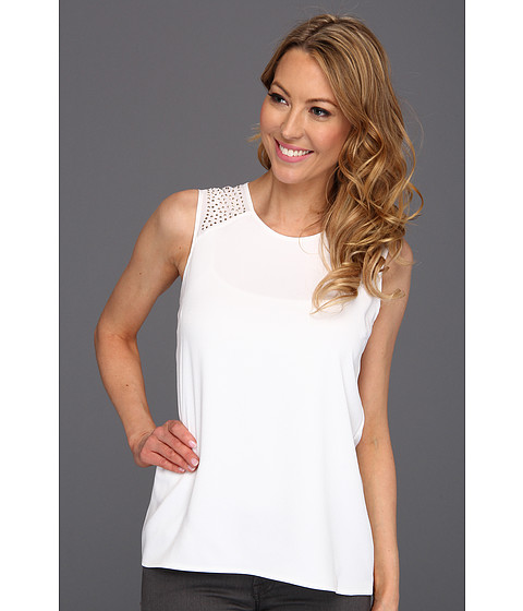 Tricouri Calvin Klein - Sequin Shoulder Tank - Soft White
