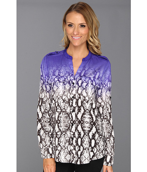 Bluze Calvin Klein - Print Crew Roll Sleeve - Byzantine Multi Colored Snake