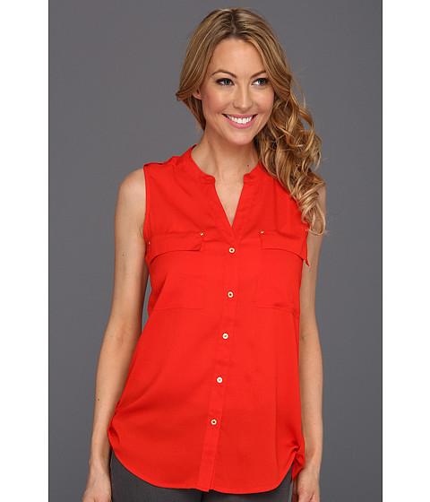 Tricouri Calvin Klein - Sleevelss Crew Blouse - Tango Red