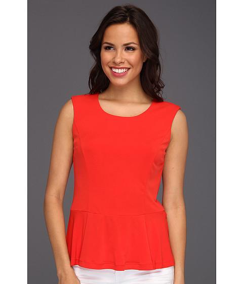 Tricouri Calvin Klein - Solid Peplum Top - Tango Red