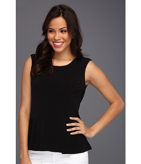 Tricouri Calvin Klein - Solid Peplum Top - Black